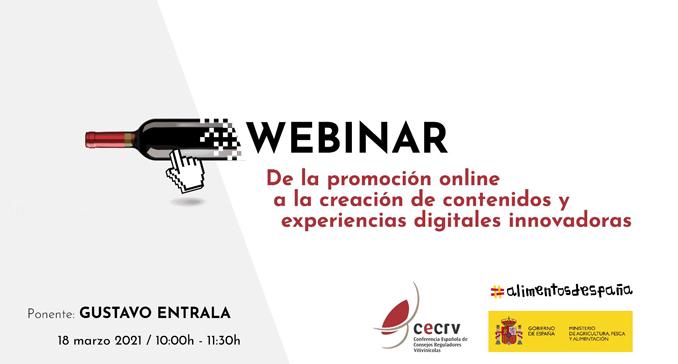 CECRV y el Ministerio de Agricultura, Pesca y Alimentación organizan un seminario web para impulsar la creatividad en el ámbito online