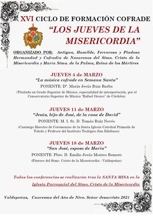 Comienza el XVI Ciclo de Conferencias: «Los Jueves de la Misericordia»