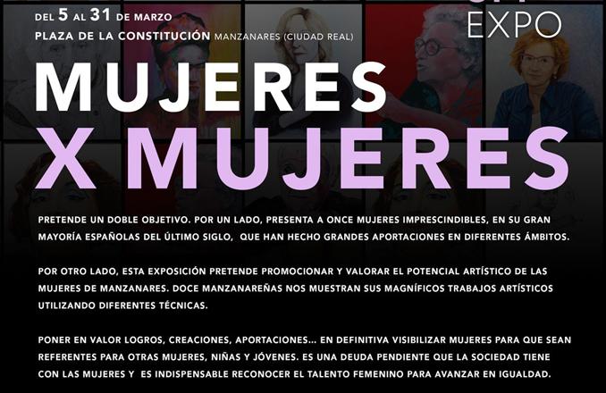 La exposición 'Mujeres X mujeres' entre las actividades del 8M de Manzanares
