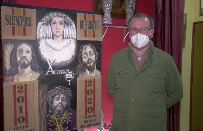 Presentado el cartel del X aniversario de los Costaleros Madre de Dios del Rosario
