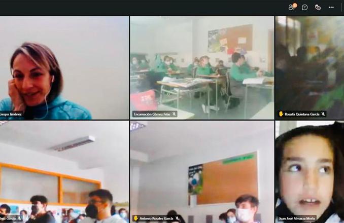Alumnos del Colegio Nuestra Señora de los Dolores, han participado en una charla online organizada por el AMPA