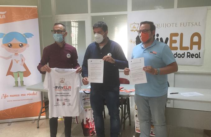 VivELA Ciudad Real y el C.D. Quijote Futsal aúnan fuerzas para apoyar a personas afectadas por la ELA