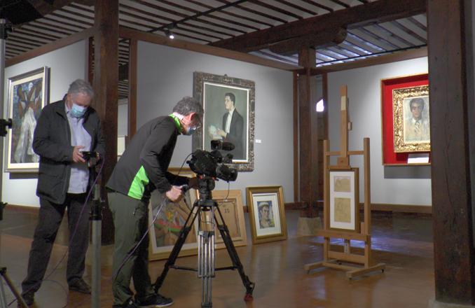 El Museo de Gregorio Prieto acoge el rodaje del documental 'Luis Cernuda, habitante del olvido'