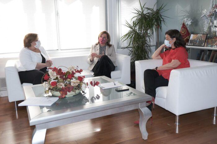 Carmen Olmedo, Rosa Ana Rodríguez y Pilar Zamora
