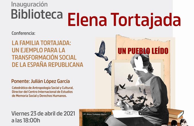 """IU Valdepeñas inaugura la Biblioteca Popular """"Elena Tortajada"""" el próximo viernes 23 de abril coincidiendo con el Día del Libro"""