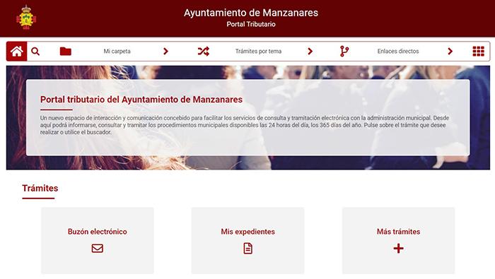 El Ayuntamiento de Manzanares pone en marcha el 'portal tributario'