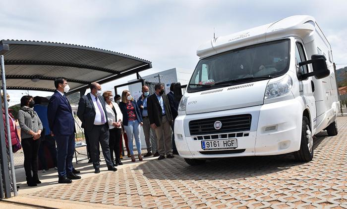Inauguración del área de auto caravanas de Luciana