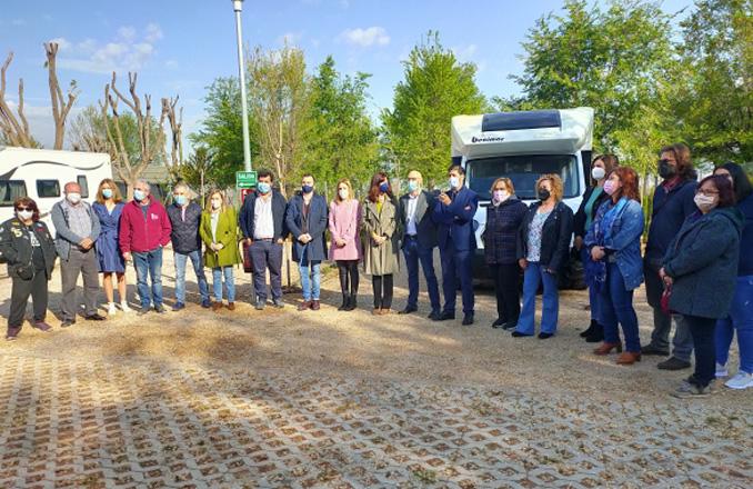 Inaugurada el área de autocaravanas de Argamasilla de Alba