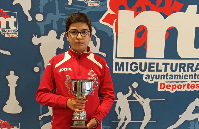 El ajedrecista valdepeñero Santiago David Díaz, se vuelve a proclamar campeón provincial en edad escolar
