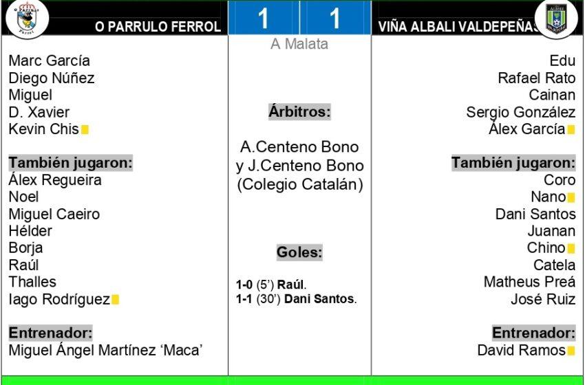 1-1| El Viña Albali Valdepeñas sella en Ferrol su billete para el playoff