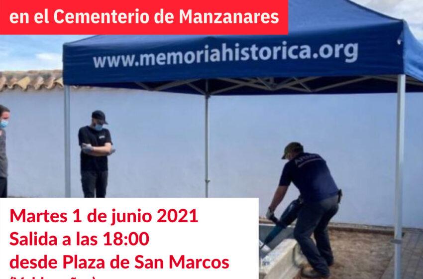 Izquierda Unida Valdepeñas visitará los trabajos de exhumación que se están realizando en el cementerio de Manzanares