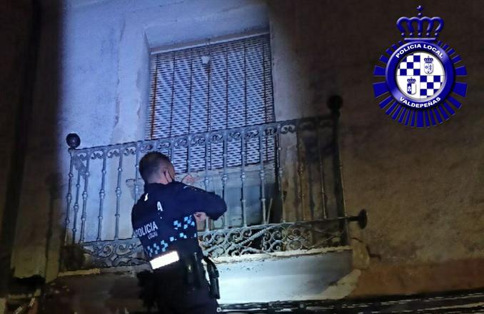La Policía Local de Valdepeñas detiene a un hombre cuando intentaba perpetrar un robo en una vivienda sin habitar