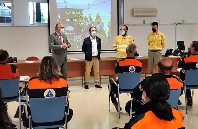 La actuación ante incendios en vegetación, tema del curso impartido por el Gobierno de Castilla-La Mancha a veinte voluntarios de Protección Civil