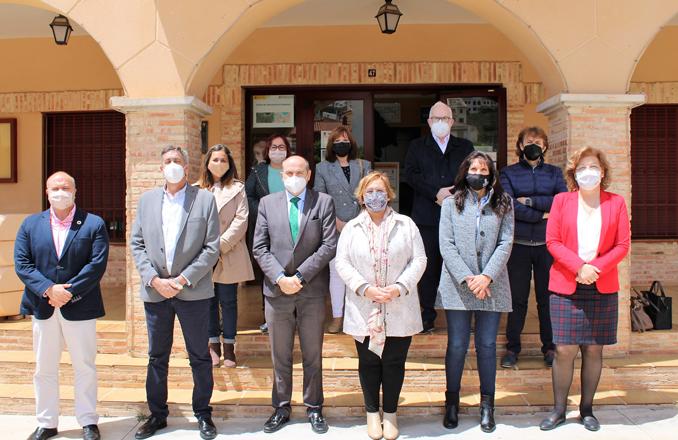 Los delegados de las consejerías del Gobierno de Castilla-La Mancha en la provincia de Ciudad Real mantienen una reunión de trabajo en Ruidera