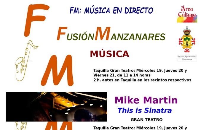 'Fusión Manzanares', música en directo para retomar la programación cultural