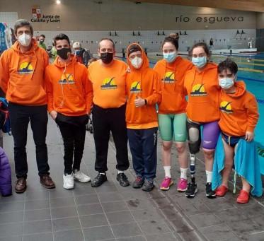 Buenos resultados del Club Natación Valdepeñas en el Open Internacional de Natación Adaptada celebrado en Castilla y León