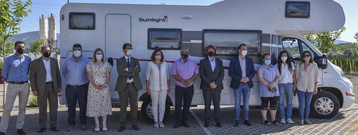 Inauguradas las nuevas áreas de autocaravanas de Retuerta del Bullaque y Alcoba de los Montes