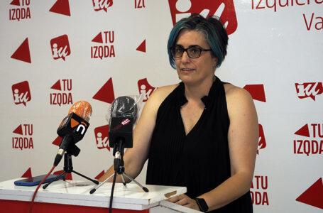 Juana Caro, portavoz del grupo municipal IU en Valdepeñas
