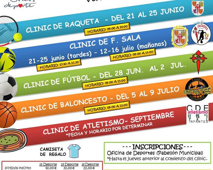 Vuelven los Clinics Deportivos de Verano a Villanueva de los Infantes