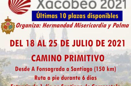 Cartel últimas plazas Camino Santiago 2021