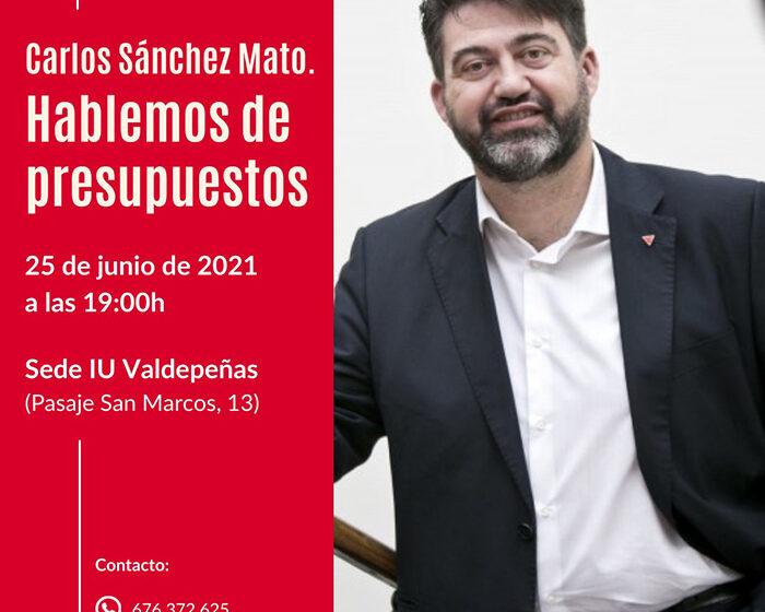 Carlos Sánchez-Mato en Valdepeñas: Hablemos de Presupuestos