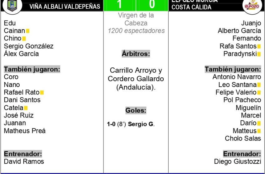 1-0| El Viña Albali Valdepeñas tira de orgullo y fuerza el tercer partido ante El Pozo Murcia Costa Cálida
