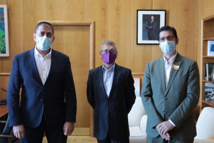 José Manuel Bolaños, Hugo Morán y José Manuel Caballero