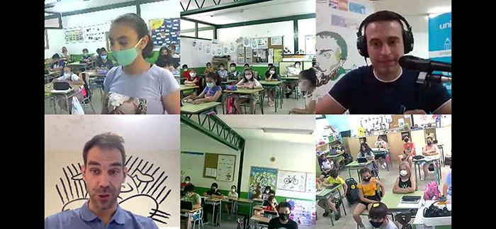 El colegio Cervantes y José Manuel Calderón, juntos en la carrera gotas de UNICEF