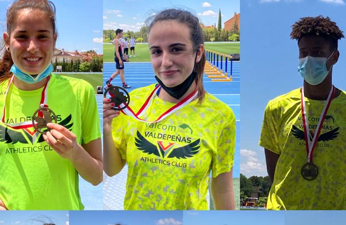 Gran papel de los atletas del Valdepeñas A. C. Sistemas Valcom en el Campeonato de CLM Escolar