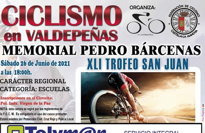Vuelve el ciclismo de escuelas a Valdepeñas con el XLI Trofeo San Juan-Memorial Pedro Bárcenas López