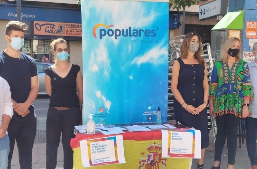 El PP sale a la calle para la recogida de firmas en contra de los indultos a los presos independentistas catalanes
