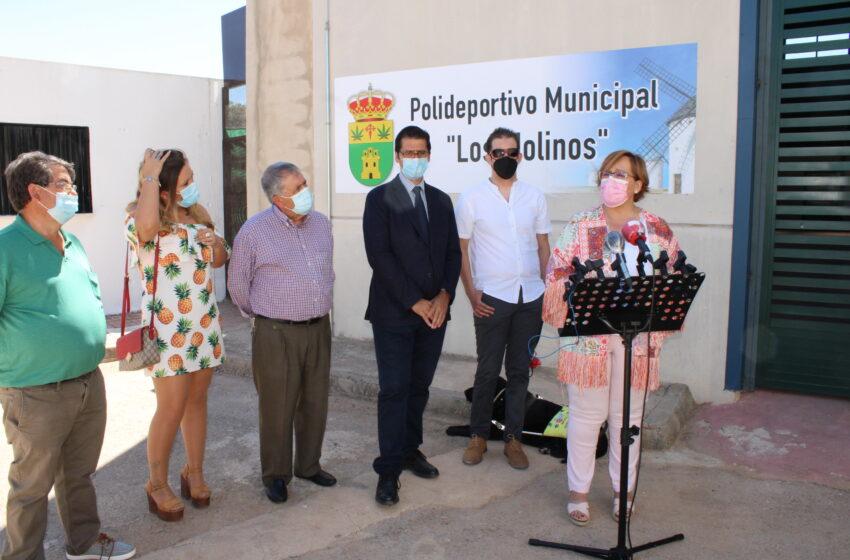 Olmedo inaugura la reforma de las instalaciones deportivas de Santa Cruz de los Cáñamos