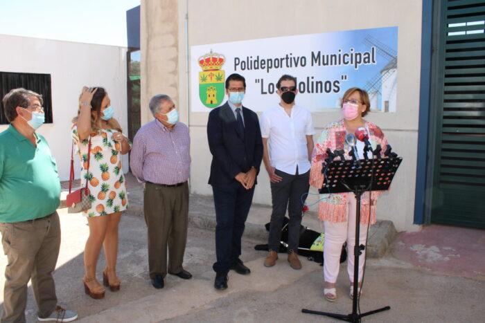 Inauguración de la reforma de las instalaciones deportivas de Santa Cruz de los Cáñamos