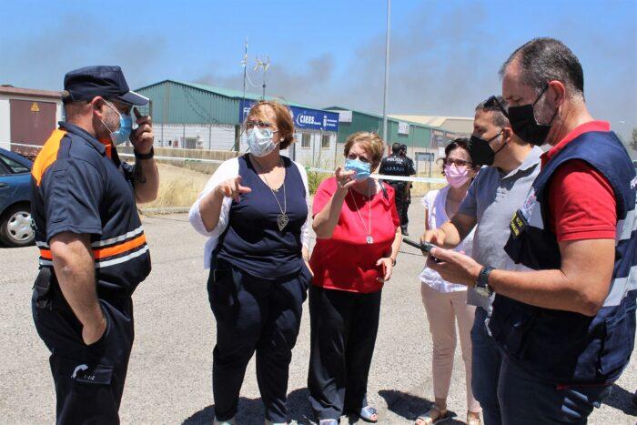 Incendio en Almadén