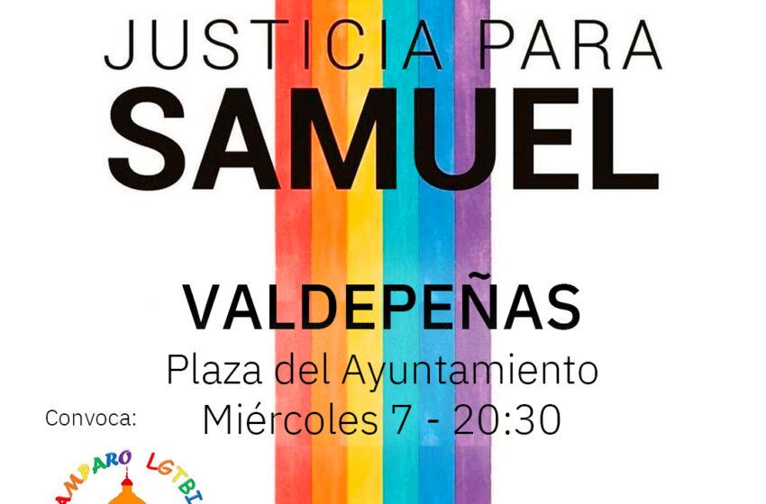 AMPARO LGTBI+ convoca una concentración en Valdepeñas por el asesinato de Samuel