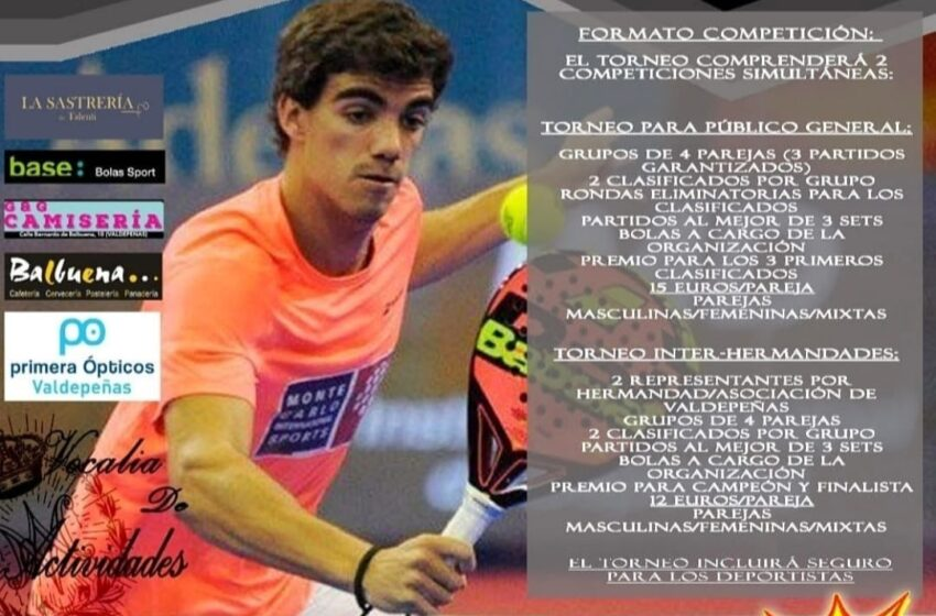 I Torneo de Pádel «Valdepeñas Cofrade»