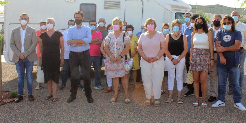 La Diputación inaugura un área para autocaravanas en Puerto Lápice