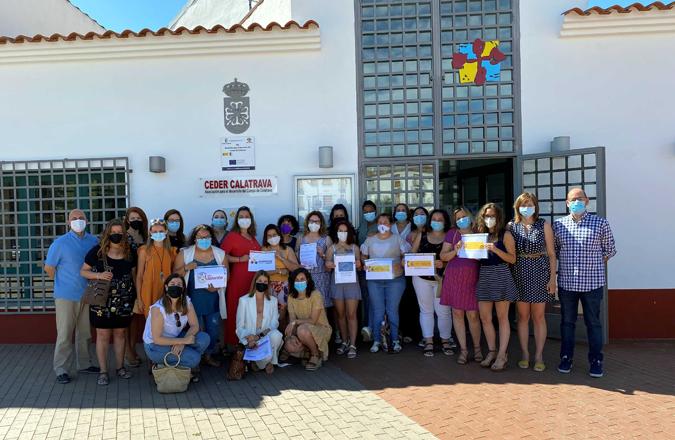 """Se clausura el Curso de """"Auxiliar de Venta y Logística de Mercado Local: Circuitos Cortos de Comercialización"""", en el que participaron 17 mujeres del Campo de Calatrava"""