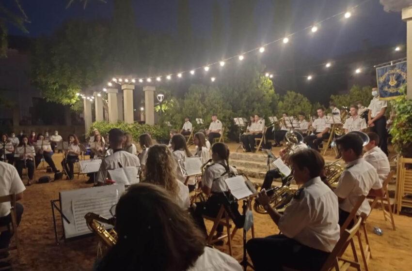 La Agrupación Musical Santa Cecilia celebró su concierto de verano en el Parque de la Glorieta de Villanueva de los Infantes