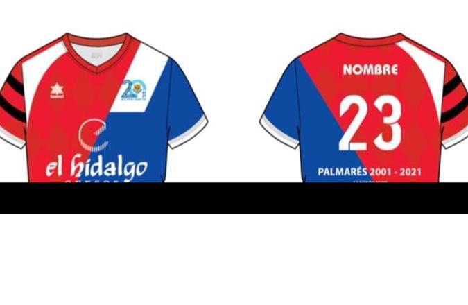 El Manzanares FS Quesos el Hidalgo presenta la camiseta conmemorativa del 20 aniversario