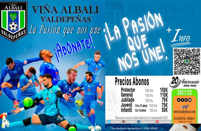 Viña Albali Valdepeñas lanza la Campaña de abonos para este año que lleva el nombre de «La pasión que nos une»