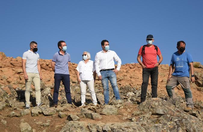 El yacimiento 'Cruz de Mayo' de Brazatortas podría ser uno de los futuros miradores del proyecto 'Geoparque Volcanes de Calatrava: Ciudad Real'