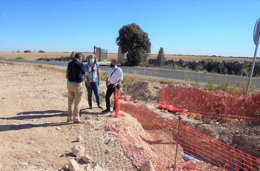 El Gobierno de CLM renueva más de medio kilómetro de la conducción que abastece de agua a Herencia desde el pozo Palancas