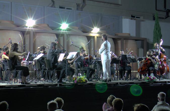 Gran actuación de la Orquesta Filarmónica de La Mancha en Bodegas A7