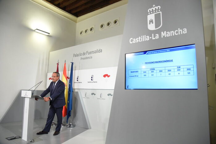 Los presupuestos de 2022 en CLM centrarán sus esfuerzos en la generación de empleo y el fortalecimiento del Estado del Bienestar