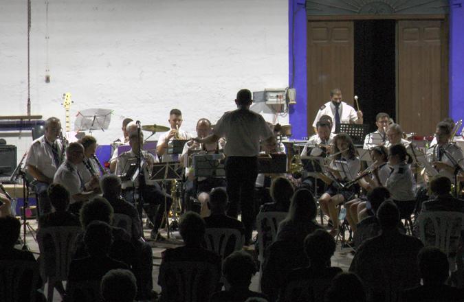 La Agrupación Musical Maestro Ibáñez ayer jueves en las Noches de A7