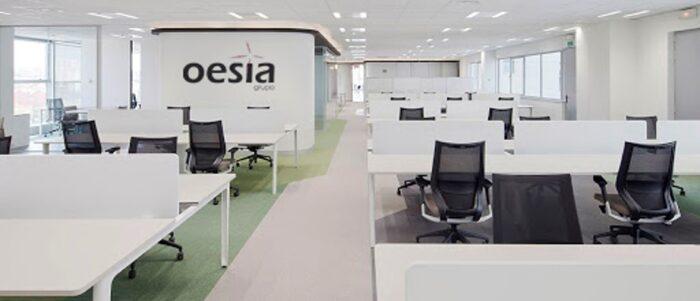 Oficinas de Grupo Oesía con energía verde
