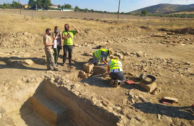 Trabajos arqueológicos buscan nuevos hallazgos sobre la bodega romana de Valdepeñas