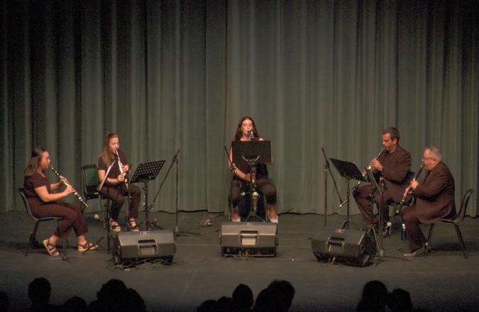 El Teatro Auditorio Francisco Nieva acogió al quinteto de cámara «Música y Cine