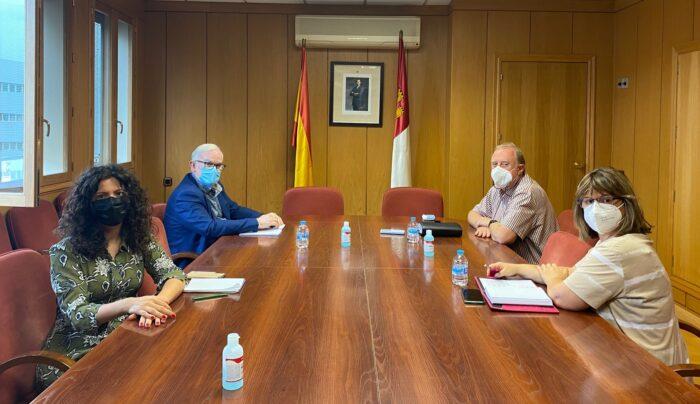Reunión con el alcalde de Carrión de Calatrava